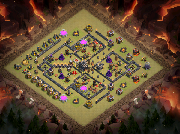 Clash of Clans TH9 Best Bomb Tower Base