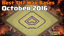 Clash of Clans Best TH7 War Bases October 2016
