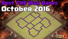 Best TH8 War Base Design October 2016