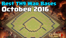 Clash of Clans Best TH9 War Base Design for October 2016