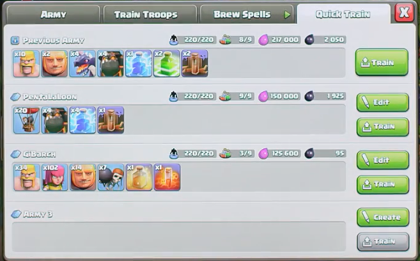 Clash of Clans Army Training October 2016 Update