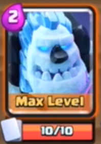 Clash of Clans Ice Golem New Card
