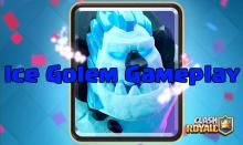 Clash Royale New Card Ice Golem Gameplay