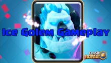 Clash Royale New Card Ice Golem Gameplay