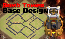 Best TH8 TH9 TH10 Bomb Tower Base Design