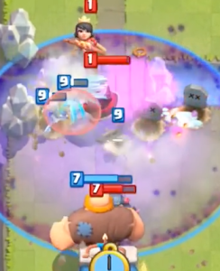 Clash Royale Graveyard vs Princess