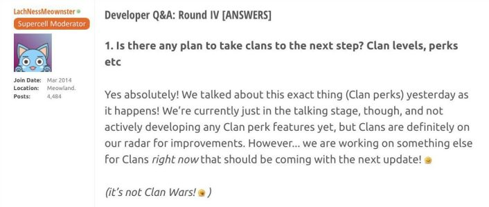 Clash Royale New Clan Feature Next Update