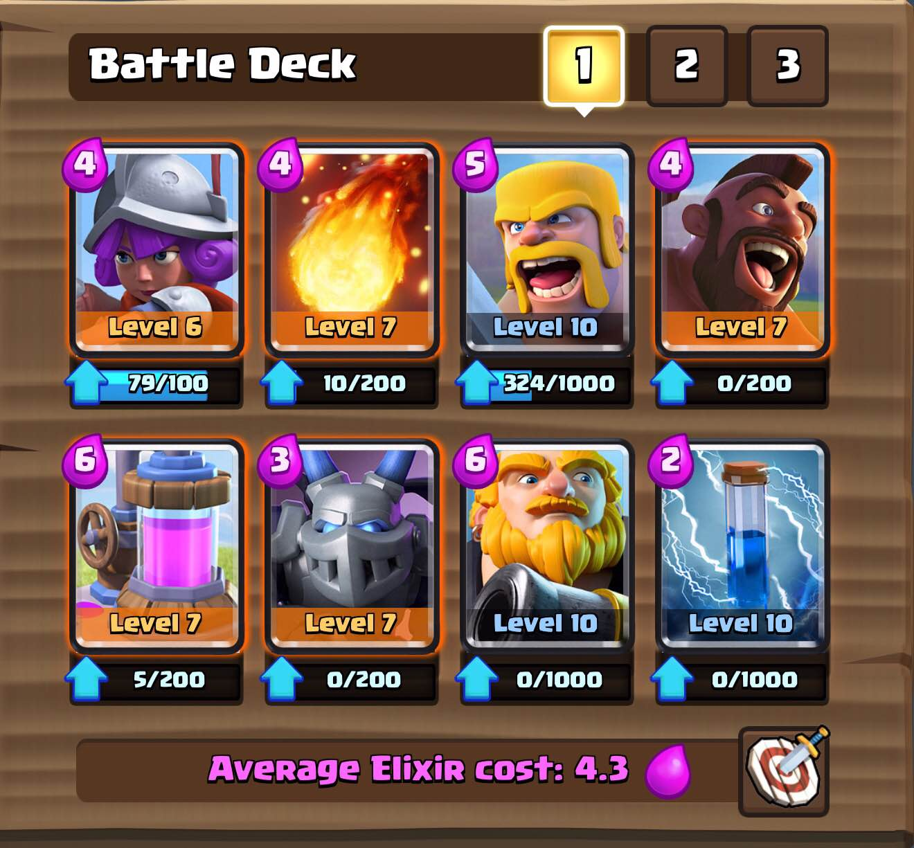 Royal Giant Hog Deck For Arena 7 And 8 Clash For Dummies