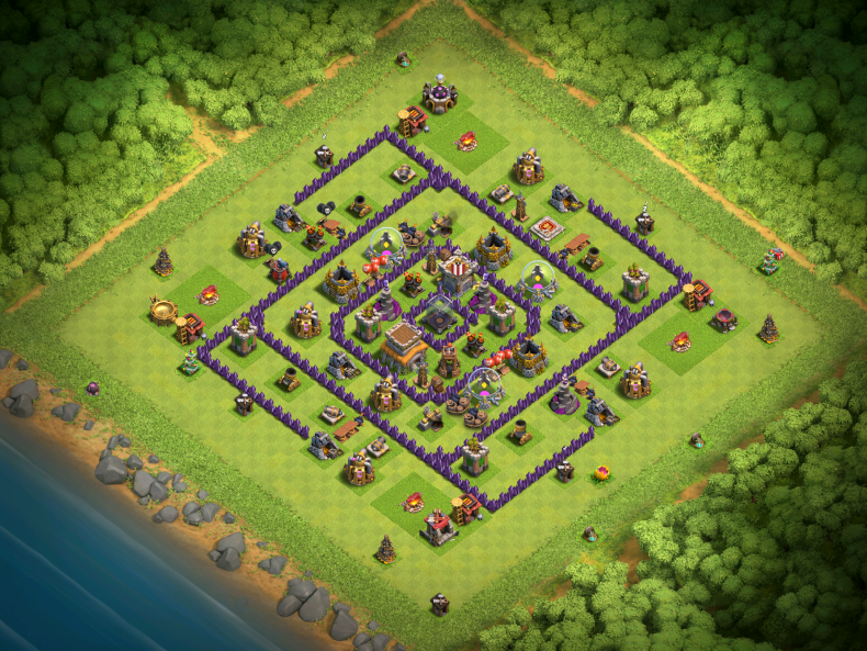 Clash of Clans Best TH8 DE Farming Base November 2016