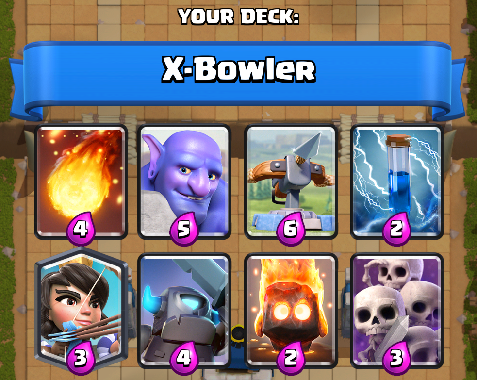 Clash royale kings cup decks how to win clash for dummies for Clash royale deck arc x