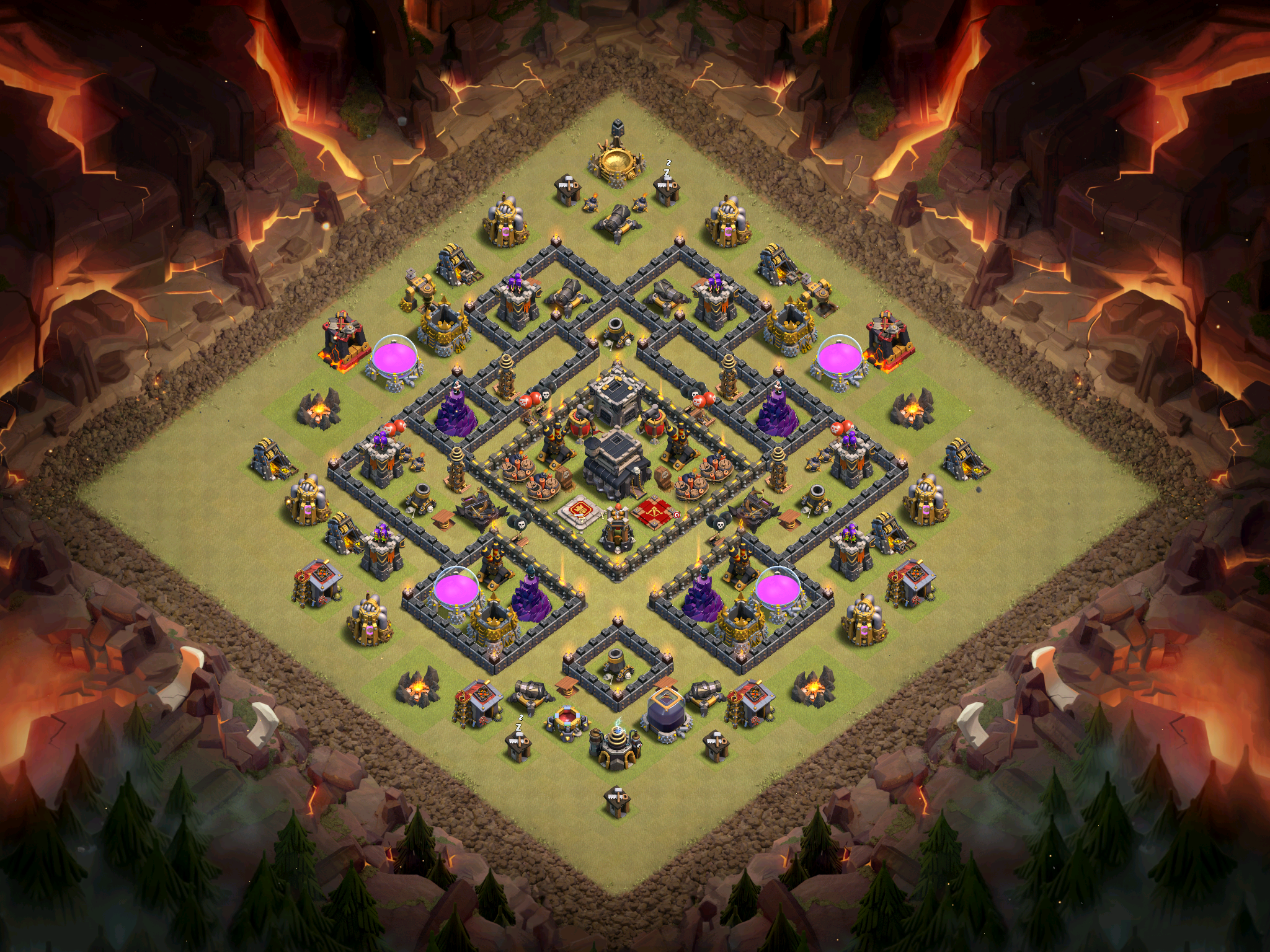X Bow Clash Of Clans Best Town Hall 9 Base ...