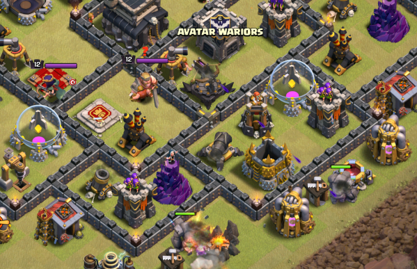 Clash of Clans Three Star GoHo TH9 Strategy Golems