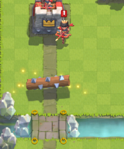 Clash Royale Princess vs Log
