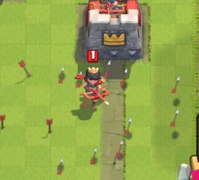 Clash Royale Princess vs Arrows