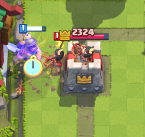 Clash Royale Princess vs Miner