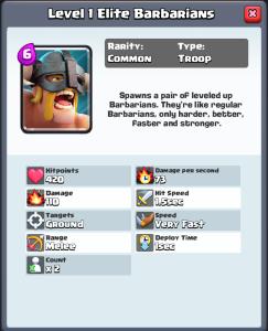 Clash Royale Elite Barbarians Leaked
