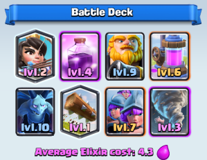Clash Royale Royal Giant-Tornado Deck-
