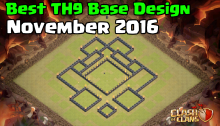Clash of Clans Best Town Hall 9 Base Design November 2016