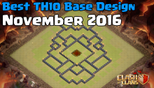 Clash of Clans Best Town Hall 10 Base Design Layouts November 2016