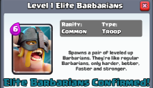 Clash Royale Elite Barbarians New Card
