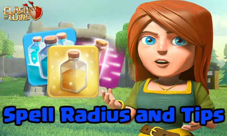 Clash of Clans Spell Radius Tips