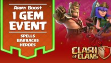 One Gem Army Boost Clash of Clans