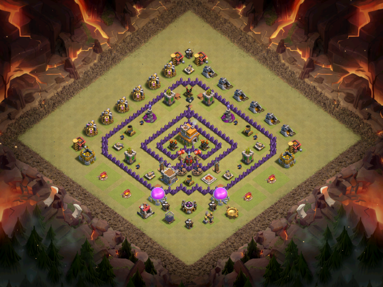 Clash of Clans Best TH7 Anti-Hog War Base December 2016