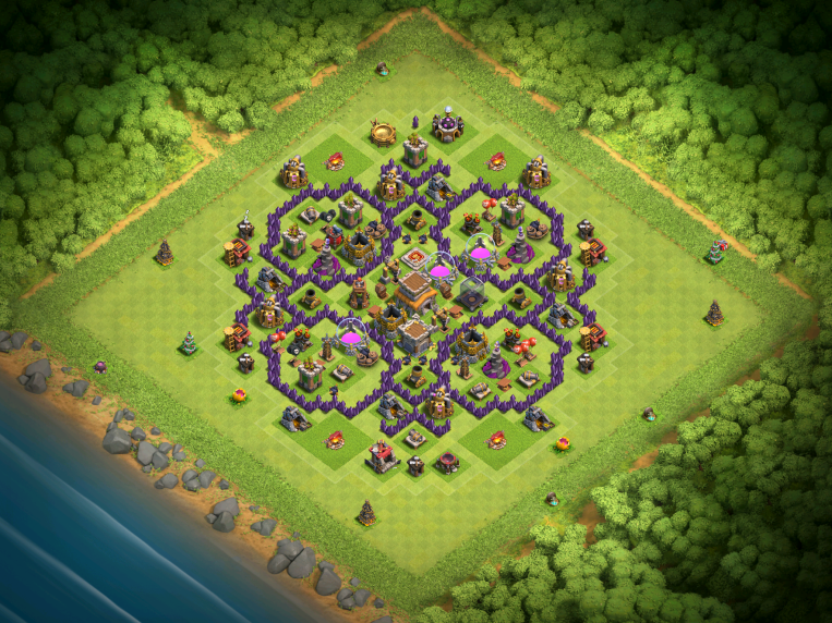 Clash of Clans Best TH8 Farming Base December 2016