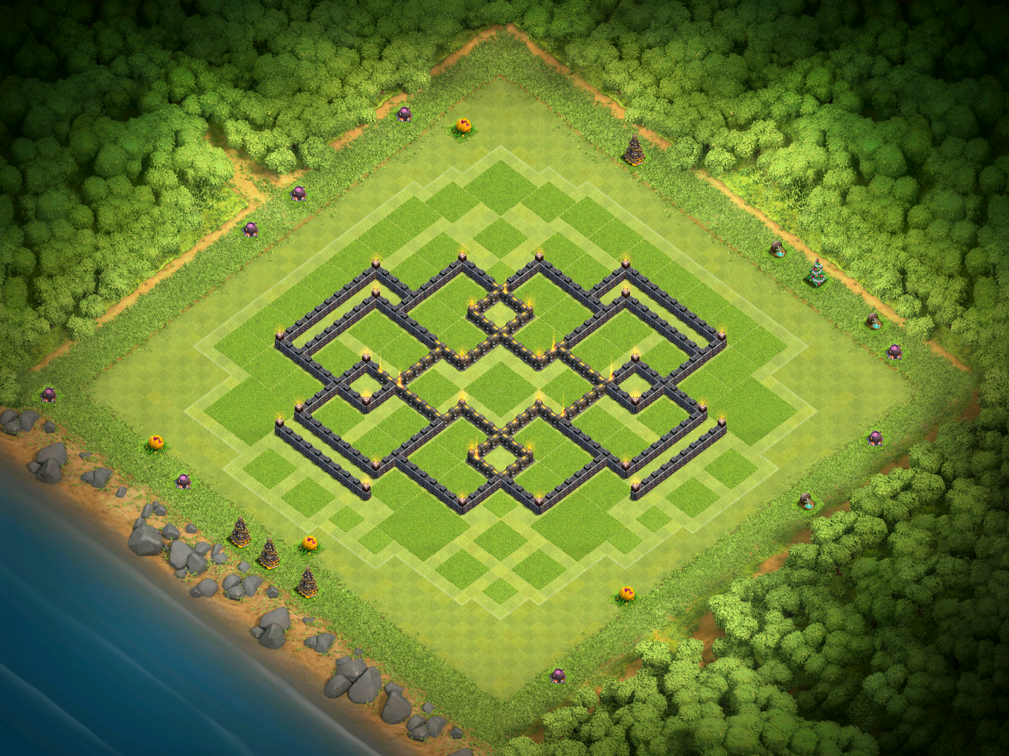 best town hall 9 base design for december 2016 clash for dummies