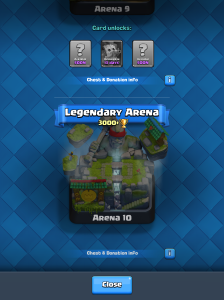 Clash Royale New Arena 4000 Trophies 2017