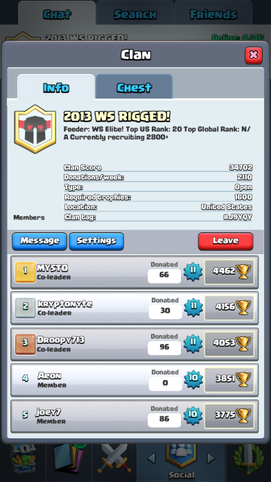 Clash Royale Level 10 Clan Chest