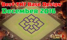 Clash of Clans Best TH7 Base Design December 2016