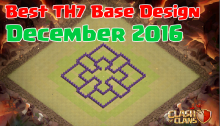 Clash of Clans Best TH7 Base Design December 2016
