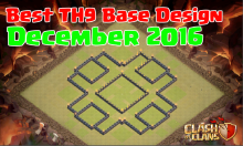 Clash of Clans Best Town Hall 9 Base Design December 2016