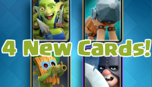 Clash Royale 4 New Cards December 2016 Update
