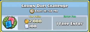 Clash Royale Crown Duel Challenge Special Event