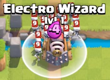 Clash Royale Electro Wizard Spawn Damage