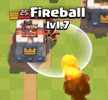 Clash Royale Electro Wizard Fireball