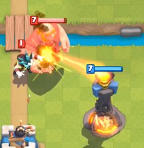 Clash Royale Electro Wizard Giant Push