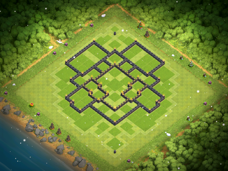 Clash of Clans Town Hall 9 War Base 2017