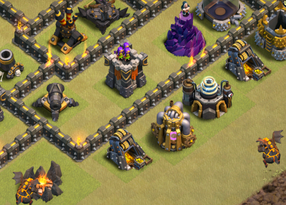 Clash of Clans TH9 LavaLoonion Lava Hounds