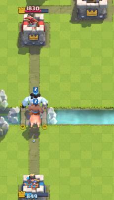 Clash Royale Hog Ice Golem Push