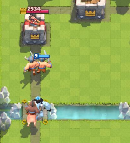 Clash Royale Hog Ice Golem Elite Barbarians Push