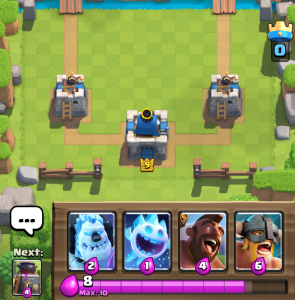Clash Royale Elite Barbs Ice Golem Hog Starting Hand