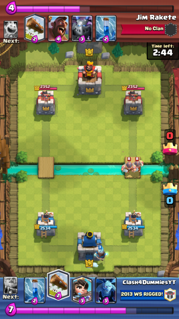 Clash Royale Starting Hand Elite Barbarians