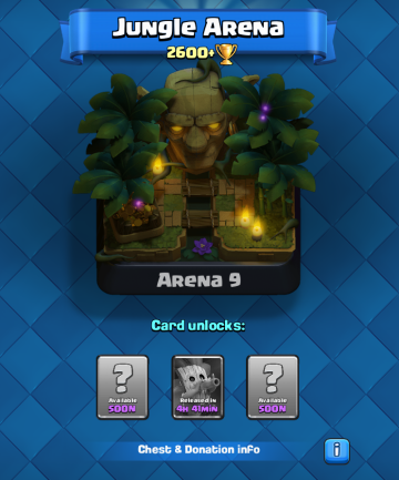 Clash Royale Arena 9 Jungle Arena Sneak Peek
