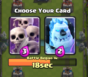 Clash Royale Draft Challenge Ice Golem Skeleton Army