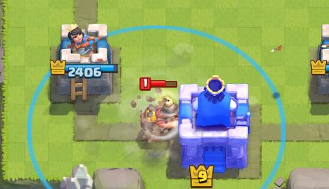 Clash Royale Tornado Pull Miner
