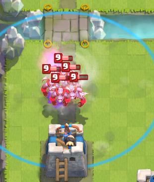 Clash Royale Tornado Minion Horde