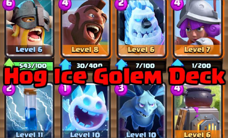 Clash Royale Hog Ice Golem Elite Barbarians Deck